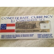 1st Confederate Currency Set