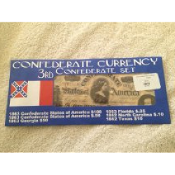 3rd Confederate Currency Set