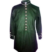 Special Order- Frock, Dark Green with piping