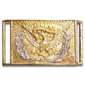 Brass Buckle: Eagle with Silver Wreath 2-Pcs Brass Buckle