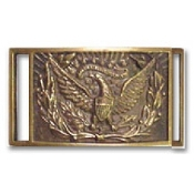 Brass Buckle: Eagle with Wreath All Gold 2-Pcs Brass Buckle
