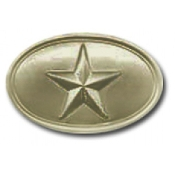 Texas State Oval Brass Buckle