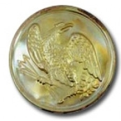 Round Brass Eagle Buckle