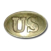 US Oval Back Filled Brass Buckle
